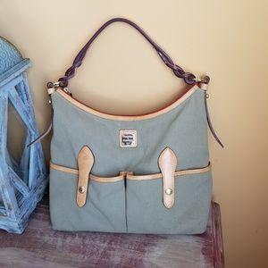 Dooney & Bourke Hobo Canva Leather Shoulder Bag